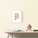 Vadvirág akvarell csokor - art print (akvarell festményem alapján), Képzőművészet, Otthon, lakberendezés, Vadvirág akvarell csokor - art print (akvarell festményem alapján)  Méret: 21 x 29,7 cm (A4)  Rózsas..., Meska