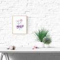 Akvarell Lila és menta rózsa - art print (akvarell festményem alapján), Képzőművészet, Otthon, lakberendezés, Festmény, Akvarell, Akvarell Lila és menta rózsa  - art print (akvarell festményem alapján)   Méret: 21 x 29,7 cm (A4)  ..., Meska