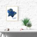Art print Lápisz Lazuli Kék Budapest sziluett - A4-es méret (akvarell festményem alapján), Képzőművészet, Illusztráció, Lápisz Lazuli Kék Budapest sziluett -  akvarell  kép A4-es méret  (akvarell festményem alapján)  Kék..., Meska