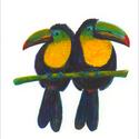 Tukán pár akvarell - A5 art print (akvarell festményem alapján), Képzőművészet, Illusztráció, Festmény, Akvarell, Tukán pár akvarell - A5 art print (akvarell festményem alapján)  Méret: 14,8 x21 cm (A5)  Tukán pár,..., Meska