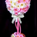 Tavaszi gömbfa rózsaszín/fehér KÉSZTERMÉK, Dekoráció, Otthon, lakberendezés, Dísz, Asztaldísz, Legújabb gömbfámat apró fehér és rózsaszín árnyalatú  gyümölcsfa virágokból készítettem. Örök dísz. ..., Meska
