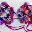 2 db-os szett virág alakú pillangós nyári kopogtató KÉSZTERMÉK, Dekoráció, Otthon, lakberendezés, Dísz, Asztaldísz, Két darab pille könnyű, lapos szizál alapra készült virág formájú ajtódísz szettben.  A szizál alapo..., Meska