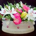 Vintage virágbox élethű virágokkal (KÉSZTERMÉK), Ballagás, Dekoráció, Otthon, lakberendezés, Dísz, Egyedi,  rusztikus virágboxot készítettem gyönyörű élethű virágokkal, fa felirattal.  Csak tartós an..., Meska