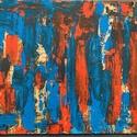 Varázslat, Művészet, Festmény, Akril, Festészet, Akril festékkel készült  absztrakt festmeny 40x50cm. , Meska