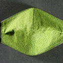 Zöld aprónövényes arcmaszk, szájmaszk, Textil arcmaszk, 2 rétegű, mindkét réteg pamut...