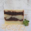 Csokis - kakaóvajas kézműves szappan, Szépségápolás, Kozmetikum, Szappan, tisztálkodószer, Natúrszappan,  Enyhe narancs illatú szappan bio kakaóvajjal.  Ebben a szappanban minden olyan alapanyag megtalá..., Meska