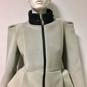 Szürke női kabát, Ruha, divat, cipő, Női ruha, Kabát, Varrás, Akció!  A kabát korábbi ára: 45500Ft volt, most a Tiéd lehet 29500Ft-ért! Különleges szabása miatt ..., Meska