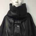 Fekete impregnált gyapjú szövet kabát, Ruha, divat, cipő, Női ruha, Poncsó, Kabát, Varrás, Akció!  A kabát korábbi ára: 49500Ft volt, most a Tiéd lehet: 29500Ft-ért.  A kabát selyem béléssel..., Meska