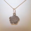 ezüst rózsa medál, Ékszer, Medál, 925-ös finomságú ezüstből készült, rózsa formájú medál (lánc nélkül!), antikoltam, hog..., Meska