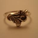 -30%  levélmintás ezüst gyűrű   , Ékszer, Gyűrű, NAGYTAKARÍTÁS   -30% 7200ft helyett 5040ft  925-ös finomságú ezüstből készült,antikolt levélmintájú ..., Meska
