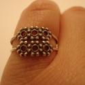 -30%  ezüst kétsoros gyűrű , Ékszer, Gyűrű, NAGYTAKARÍTÁS   -30% 6700ft helyett 4690ft  925-ös finomságú ezüstből készült gyűrű, dupla hármas go..., Meska