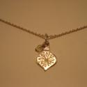 karácsonyfadísz medál, Ékszer, Medál, 925-ös finomságú ezüstből készült medál (lánc nélkül!), halvány, áttetsző sárga üveg..., Meska