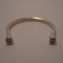 swarovski köves gyűrű, Ékszer, Esküvő, Gyűrű, Esküvői ékszer, 925-ös finomságú ezüstből készült, 2db 2mm-es swarovski cirkóniával, mérete 53-as, de nyitottsága mi..., Meska