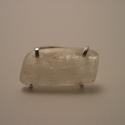 ezüst kunzit gyűrű, Ékszer, óra, Gyűrű, 925-ös finomságú ezüstből készült, mutatós gyűrű. a fehér kunzit mérete kb. 23x12mm.a gy..., Meska