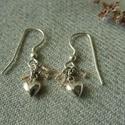 szívecskés ezüst fülbevaló   , 925-ös finomságú ezüstből készült fülbeval...