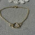 ezüst szív karkötő , 925-ös finomságú ezüstből készült sárga ar...