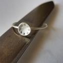 -30%  8 köves ezüst gyűrű   , Ékszer, Gyűrű, NAGYTAKARÍTÁS   -30% 6800ft helyett 4760ft  925-ös finomságú ezüstből készült gyűrű, a drótsínre egy..., Meska