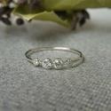 ezüst gyűrű kövekkel, 925-ös finomságú ezüstből készült 0,9mm-es ...