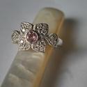 -30%  turmalinos- sok köves gyűrű , Ékszer, Gyűrű, NAGYTAKARÍTÁS   -30% 19000ft helyett 13300ft  925-ös finomságú ezüstből készült mutatós gyűrű egy 4m..., Meska