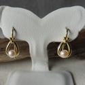-30%  aranyozott gyöngyös fülbevaló   , Ékszer, Esküvő, Fülbevaló, Esküvői ékszer, NAGYTAKARÍTÁS -30% 6900ft helyett 4830ft  925-ös finomságú ezüstből készült sárga aranyozott fülbeva..., Meska