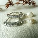 -30%  köves-gyöngyös ezüst fülbevaló  , Ékszer, Esküvő, Fülbevaló, Esküvői ékszer, NAGYTAKARÍTÁS -30% 7400ft helyett 5180ft  925-ös finomságú ezüstből készült, a 2mm-es cirkóniákkal k..., Meska
