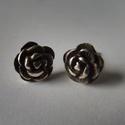 -30%  antikolt ezüst rózsa fülbevaló   , Ékszer, Fülbevaló, NAGYTAKARÍTÁS -30% 5500ft helyett 3850ft  925-ös finomságú ezüstből készült 8mm-es rózsás fülbevaló,..., Meska