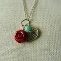 rózsás csiga ezüst medál   , 925-ös finomságú ezüstből készült medál (l...
