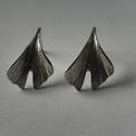 """ezüst bedugós ginkgo fülbevaló """"nikrol """" részére, 925-ös finomságú ezüstből készült a ginkgo ..."""