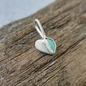 """ezüst-türkiz szív medál láncon """"zsofka82 """" részére, 925-ös finomságú ezüstből készült ez a szí..."""