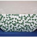 Tavirózsa dekoráció, Dekoráció, Eladó egy kerámia tál alakú kívül belül csempével díszített dekoráció., Meska