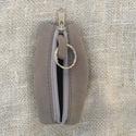Bőr kulcstartó, Mindenmás, Kulcstartó, Bőrművesség, Varrás, Bőrből készült cippzáros kulcstartó, Meska
