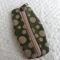 Bőr kulcstartó, Mindenmás, Kulcstartó, Bőrművesség, Varrás, Bőrből készült cippzáros kulcstartó, 13 cm , Meska