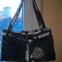 Retro tágas női farmer táska , Divatos anyaggal bélelt bő,nagyméretű női tá...
