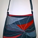 Nagy pakolós #különleges  mintával #női #farmer táska , Tágas, erős és egyedi  ,cipzárral záródó #t...