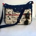 """Nyári,""""tengerész"""" mintával,női crossbody táska, Ez egy bőségesen pakolható  típusú #táska, a..."""