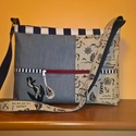 Farmer,vászon,nyár…egyedi női táska,  Egyedi ,cipzáros női táska,nyári mintával. E...