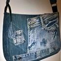 Egyedi  táska farmer imádóknak (crossbody táska )