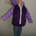 """Barbie babaruha """"Lilu"""", Baba-mama-gyerek, Játék, Baba játék, Baba, babaház, Barbie babaruha, lila, kapucnis, cipzáras, bélelt szabadidő felső. Pihenéshez ideális viselet. :-) A..., Meska"""