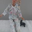 """Barbi babruha """"Szonja"""", Baba-mama-gyerek, Játék, Baba játék, Baba, babaház, Barbie babaruha, női pizsama, éjszakai használatra ideális viselet. :-) , Meska"""