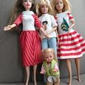 Barbie babaruhák , Baba-mama-gyerek, Gyerekszoba, Egyedi, pamut anyagból készült varrott Barbie babaruhák, az ár darabonként értendő., Meska