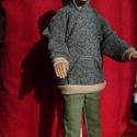 Ken babaruha, Baba-mama-gyerek, Gyerekszoba, Eladó a képen látható babruha Ken (fiu Barbie) öltöztetéséhez. Kapucnis felső nadrággal együtt...., Meska