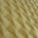 Babatakaró, merinói gyapjú keverék, kötött, vanília sárga, vastag, levegős, rugalmas, kétoldalas, 67x67 cm