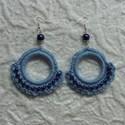 Világos kék horgolt fülbevaló, Alize Bella fonalból horgoltam ezeket a fülbeval...