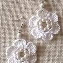 Fehér virág /horgolt fülbevaló/, Fehér Eldorado puppets fonalból horgoltam ezt a ...