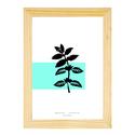 1. Botanikai témájú falikép ajándék kerettel, Menta növény digitalizált kézi rajza, minimalista, modern A4-es print, Dekoráció, Otthon, lakberendezés, Falikép, Kép, Fotó, grafika, rajz, illusztráció, Menta -  Botanikai témájú fali / asztali dekoráció, a tavaszi enteriőr kiváló kiegészítője. Modern,..., Meska