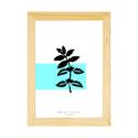 Botanikai képek! Menta növényről készült modern, letisztult, minimalista nyomat A4-es méretben, Otthon, lakberendezés, Baba-mama-gyerek, Falikép, Gyerekszoba, Botanikai témájú képek. Menta növény modern, letisztult, minimalista ábrázolásban. Kézi rajzomról ké..., Meska