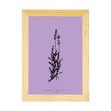 Botanikai képek kerettel! Levendula növényről készült modern, letisztult, minimalista nyomat kerettel,A4-es méretben, Otthon, lakberendezés, Baba-mama-gyerek, Falikép, Gyerekszoba, Botanikai témájú falikép sorozat gyönyörű, finom pasztell színárnyalatokkal. Levendula növény modern..., Meska