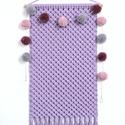 Makramé faliszőnyeg, fali makramé levendula (halvány lila) színben, Baba-mama-gyerek, Otthon, lakberendezés, Gyerekszoba, Lakástextil, Levendula (halvány lila) színű, gyönyörű, strukturált, pamut zsinórfonalból készítettem ezt az elegá..., Meska
