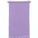 Makramé faliszőnyeg, fali makramé levendula (halvány lila) színben, makramé fali szőnyeg, Baba-mama-gyerek, Gyerekszoba, Falvédő, takaró, Mobildísz, függődísz, Levendula (halvány lila) színű, gyönyörű, strukturált, pamut zsinórfonalból készítettem ezt az elegá..., Meska