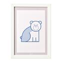 Medve - keretezett kép gyerekeknek. Állatos gyerekszobai dekoráció medvével A4-es méretben., Otthon, lakberendezés, Baba-mama-gyerek, Gyerekszoba, Baba falikép, Falikép medvével. Az állatos, letisztult, monokróm minimalista képek feldobják a gyerekszobát. A kép..., Meska